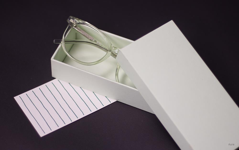 thick glasses lenses - box
