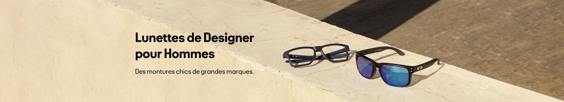 Montures de lunettes design pour homme