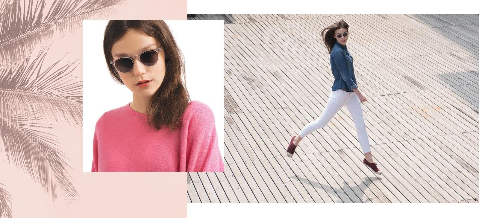 Woman in Sun Kyoto sunglasses