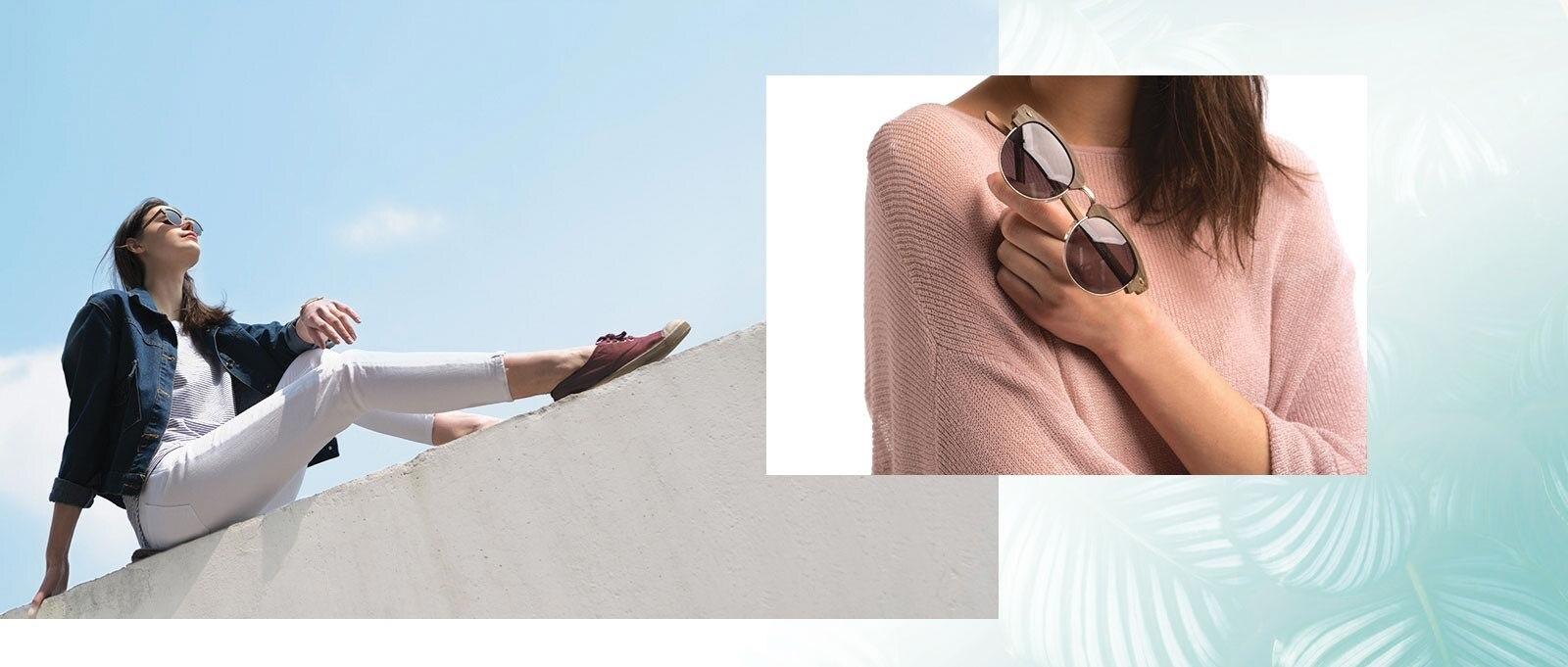 Woman in The Hamptons sunglasses
