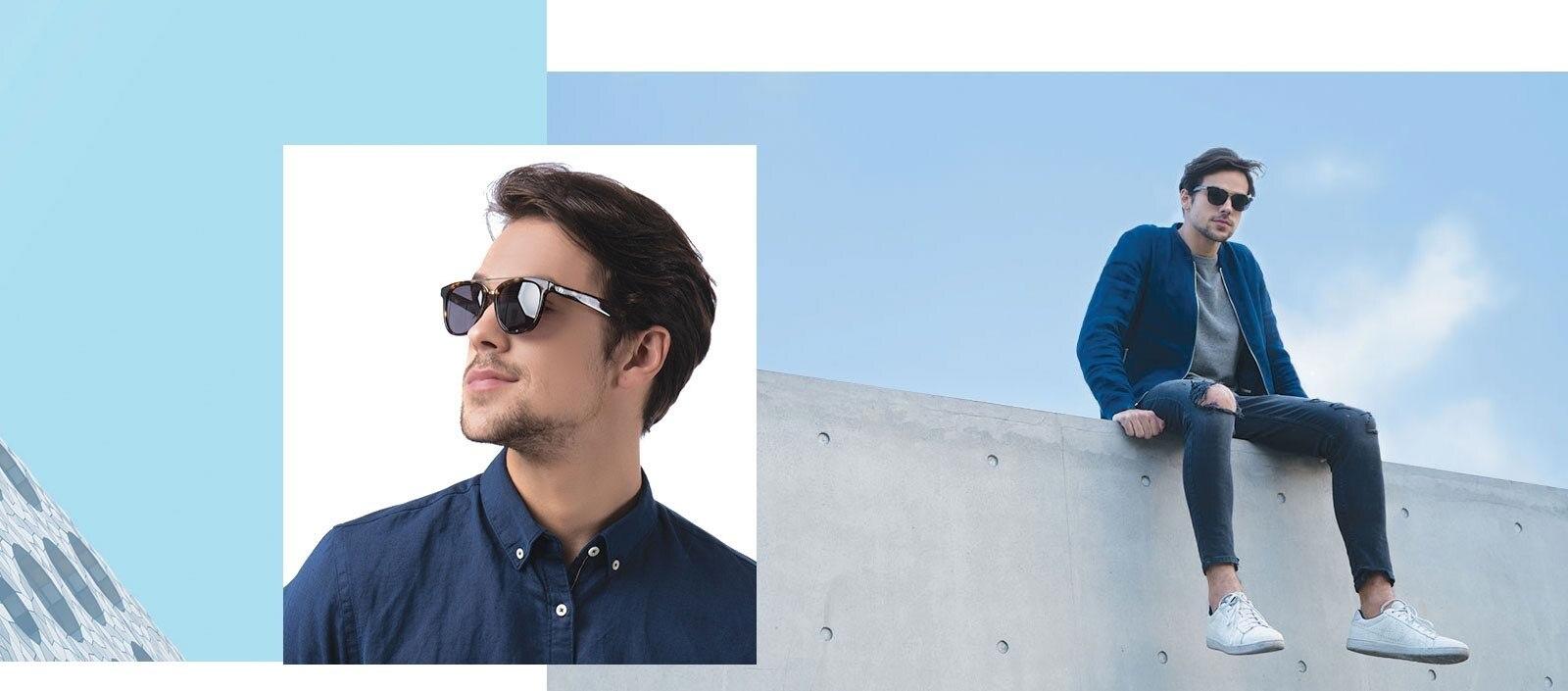 Man wearing Crown sunglasses