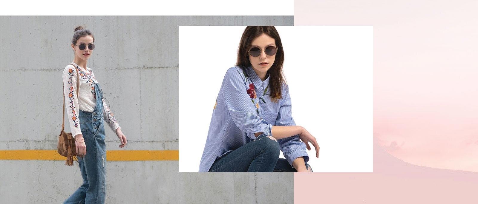Woman wearing Bounce sunglasses