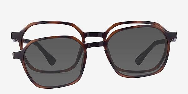Paseo Clip-On Tortoise Plastic Eyeglass Frames