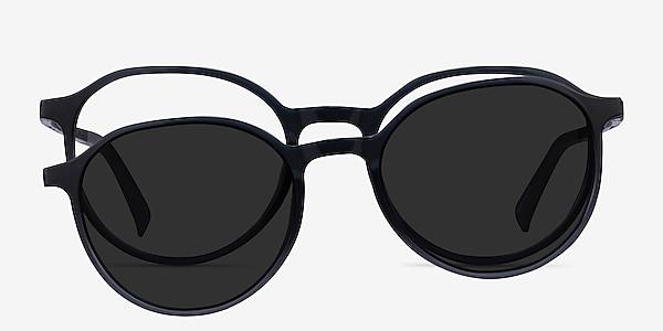 Esplanade Clip-On Clear Gray Plastique Montures de lunettes de vue