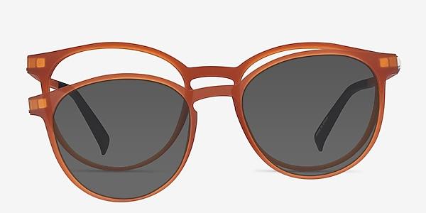 Terminus Clip-On Matte Orange Plastique Montures de lunettes de vue