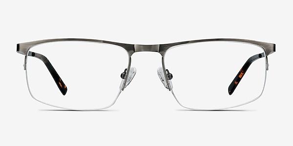 Wayne Gunmetal Silver Metal Eyeglass Frames