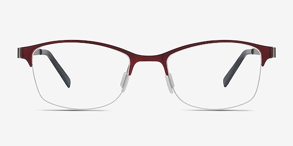 Pearl Red Metal Eyeglass Frames