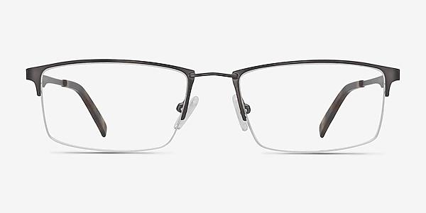 Furox Gunmetal Metal Eyeglass Frames