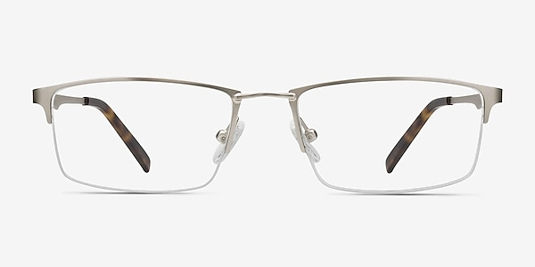 Furox Silver Metal Eyeglass Frames