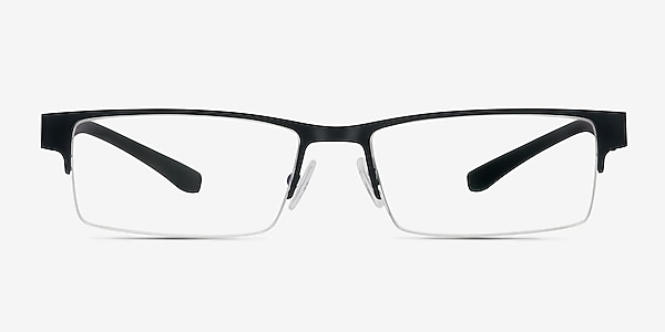 Macon Black Metal Eyeglass Frames