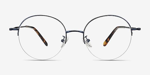 Albee Blue Metal Eyeglass Frames