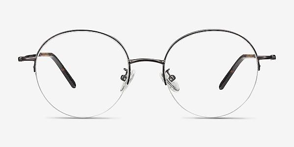 Albee Gunmetal Metal Eyeglass Frames