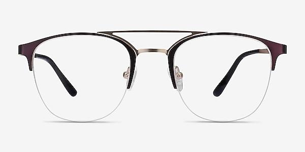 Society Purple Metal Eyeglass Frames