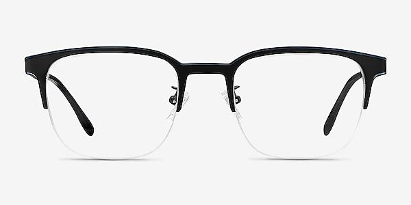 Fathom Blue Black Métal Montures de lunettes de vue