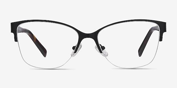 Feline Black Acetate-metal Eyeglass Frames