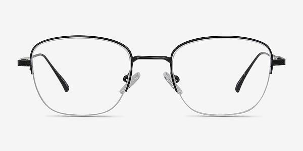 Navigator Black Metal Eyeglass Frames