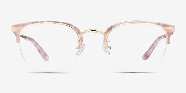 Curie Pink Acetate-metal Eyeglass Frames