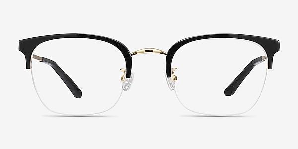 Curie Noir Acetate-metal Montures de lunettes de vue