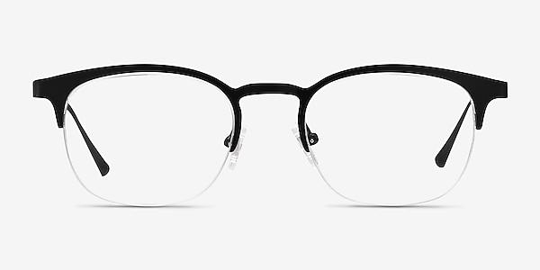 Hemisphere Black Metal Eyeglass Frames