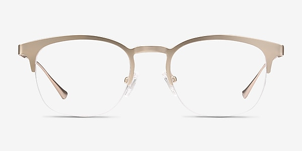 Hemisphere Rose Gold Metal Eyeglass Frames