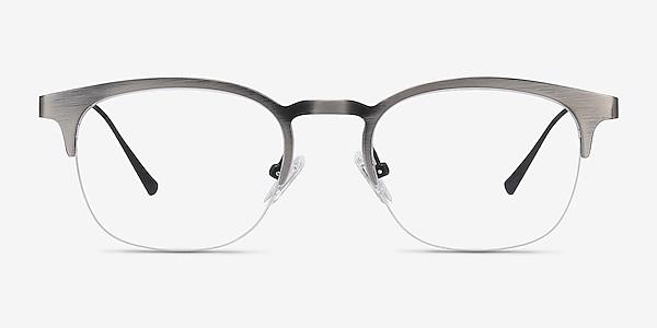 Hemisphere Gunmetal Metal Eyeglass Frames
