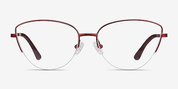 Star Burgundy Metal Eyeglass Frames