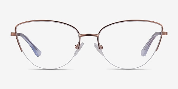 Star Rose Gold Metal Eyeglass Frames