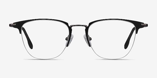 Wings Black Metal Eyeglass Frames