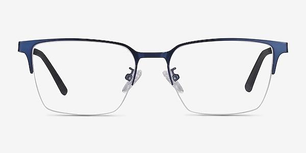 Brink Blue Metal Eyeglass Frames