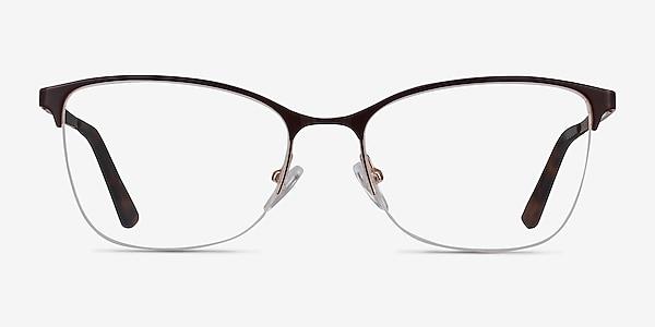 Kira Burgundy Metal Eyeglass Frames