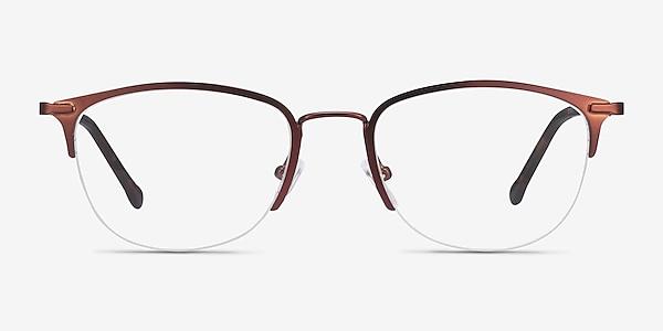 Elise Brown Metal Eyeglass Frames