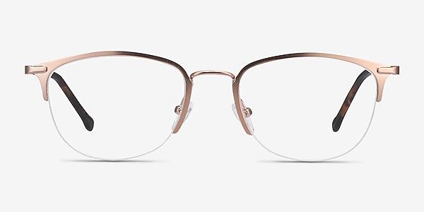 Elise Rose Gold Metal Eyeglass Frames