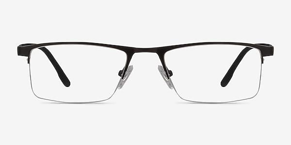 Singapore Matte Black Metal Eyeglass Frames