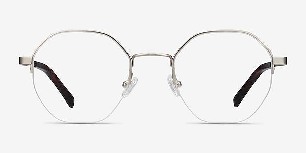 Cowen Silver Metal Eyeglass Frames