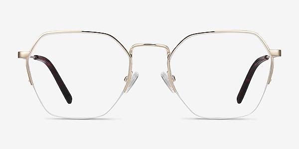 Cruz Gold Metal Eyeglass Frames