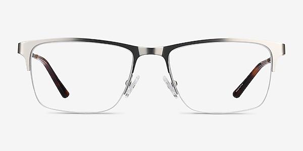 Jasper Silver Metal Eyeglass Frames