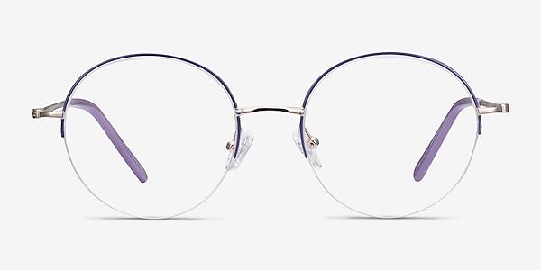 Takashi Purple & Gold Metal Eyeglass Frames