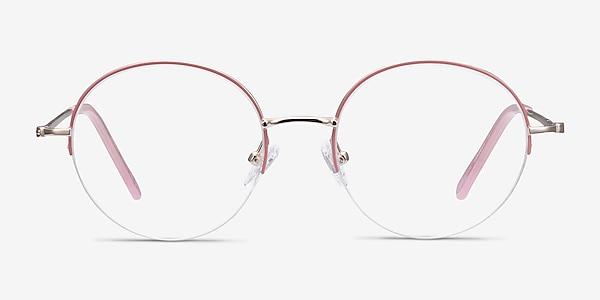 Takashi Pink & Gold Metal Eyeglass Frames