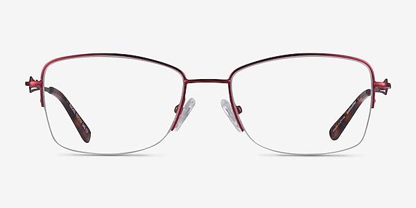 Rachel Burgundy Metal Eyeglass Frames