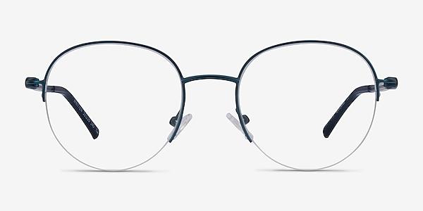 Written Navy Metal Eyeglass Frames
