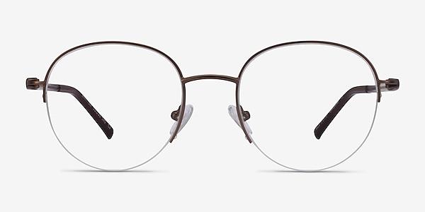 Written Bronze Metal Eyeglass Frames