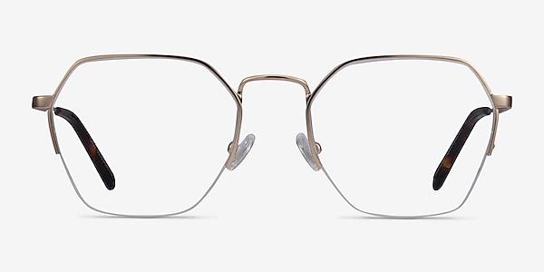 Cruz Rose Gold Metal Eyeglass Frames