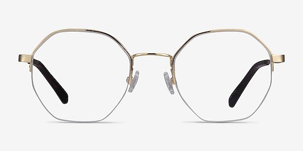 Cowen Gold Metal Eyeglass Frames