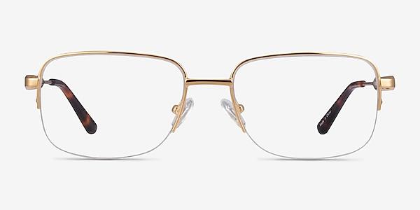 Kanye Doré Métal Montures de lunettes de vue