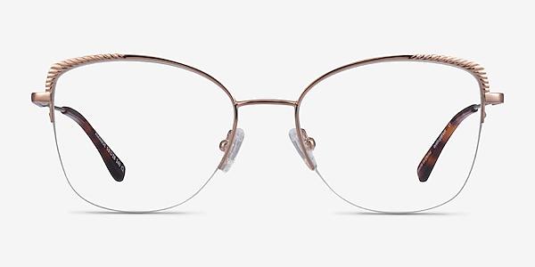 Amande Rose Gold Métal Montures de lunettes de vue