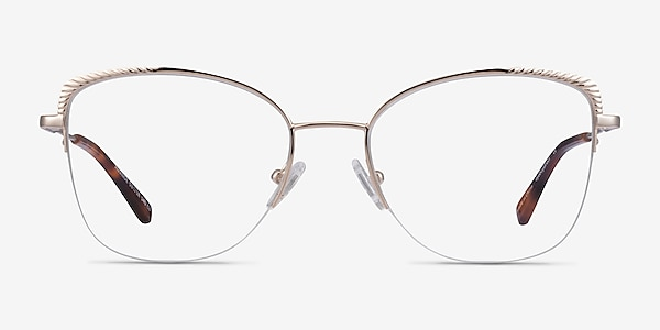 Amande Gold Metal Eyeglass Frames