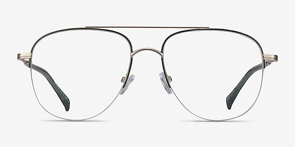 Universe Green Gold Métal Montures de lunettes de vue
