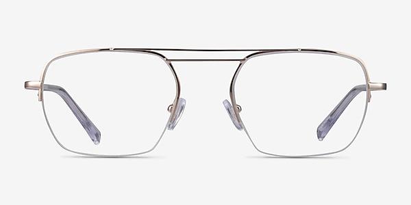 Cabrini Gold Clear Métal Montures de lunettes de vue