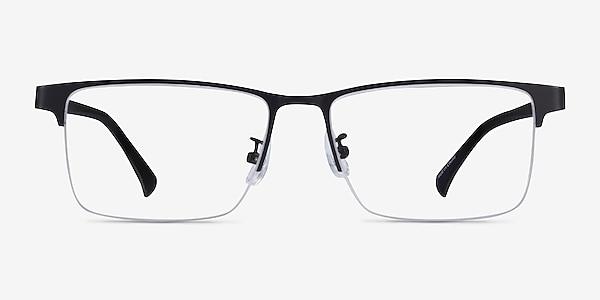 Childeric Black Gold Metal Eyeglass Frames