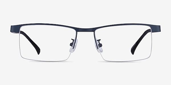 Zac Blue Metal Eyeglass Frames